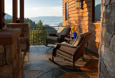 Idaho Mountain Home Porch