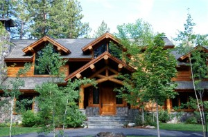 Log Accent Mountain Home