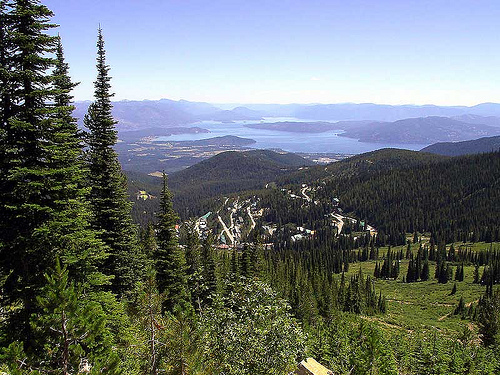 Lake Pend Oreille from Schweitzer Mountain Resort