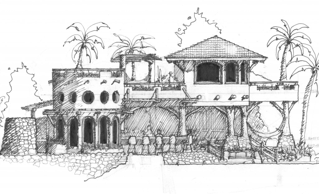 Mexico Beach House - Pacific Beachfront Elevation