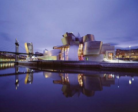 The Frank Gehry designed Bilbao Museum