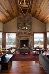 Small Mountain Home Interior