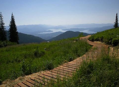 New Schweitzer Mountain Resort Trail