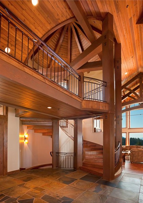 A modern timber post and beam home