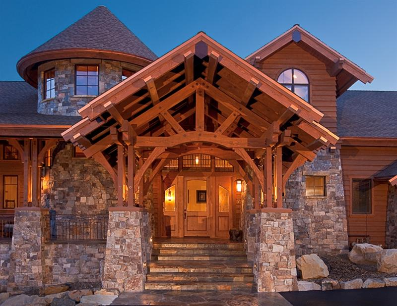 Wood Beam Construction ~ Timber frame mountain architects hendricks architecture