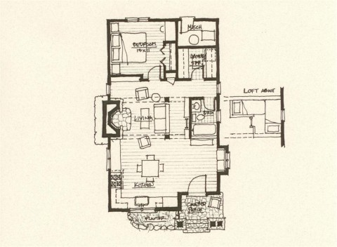 Storybook Cabin Plan