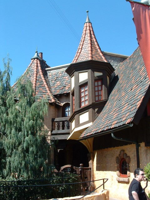Lopsided Architecture in Fantasyland - Pinocchio's Daring Journey