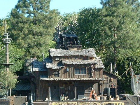 Rustic Architecture in Disneyland - Tom Sawyer's Island