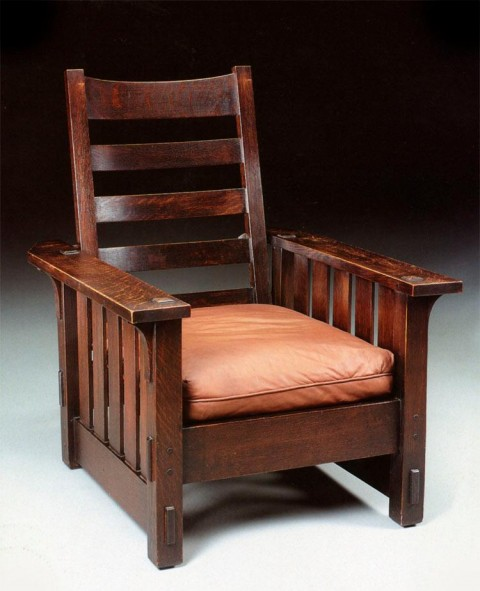 Chair designed by Gustav Stickley