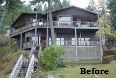 Lakefront Cabin Before