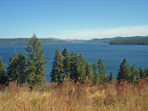 View site Lake Coeur d'Alene Sunup Bay