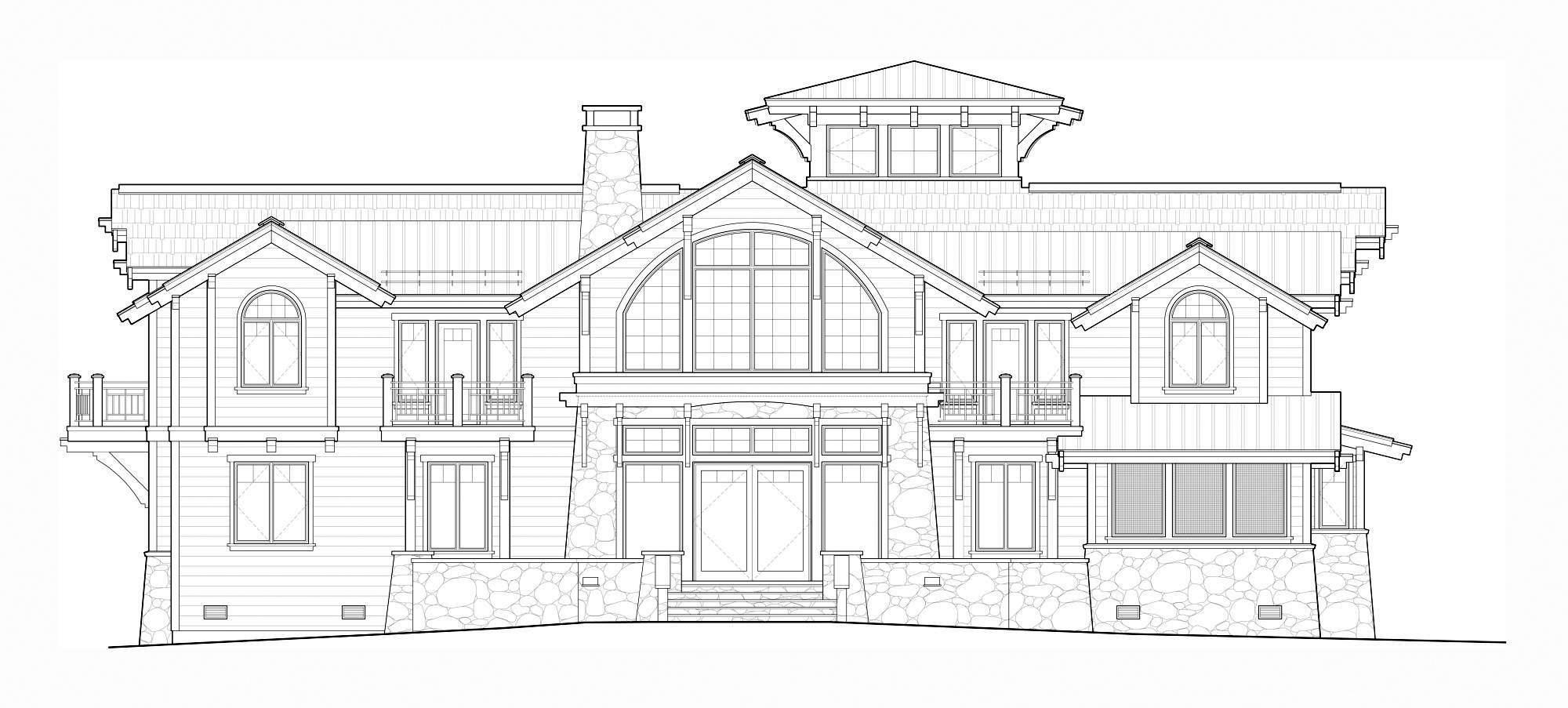 Front Elevation Autocad : Idaho mountain architects hendricks architecture