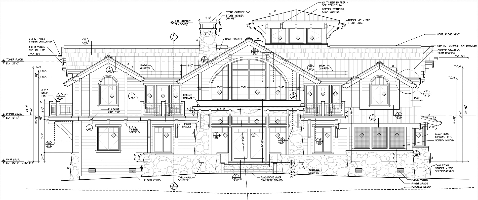 Architects mountain architects hendricks architecture idaho for Construction plan drawing